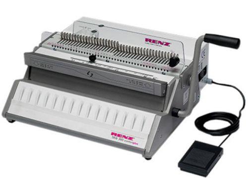 Брошюровщик Renz SRW 360 COMFORT PLUS 27310300 перфорация листов (70г/м2): 27, 1ручка, привод перфорации: электрический, длина перфорации 360 мм