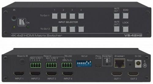 Коммутатор матричный Kramer VS-42H2 20-00018290 Desktop 4х2 HDMI, поддержка 4K60 4:4:4