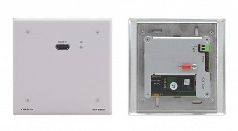 Передатчик Kramer WP-580T/EU(B)-86 50-800430290 HDMI, RS-232 и ИК по витой паре HDBaseT с разъемом DVI-I, до 70м, поддержка 4К60 4:2:0