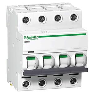Автоматический выключатель Schneider Electric A9F79410 4P 10A (C)(серия Acti 9 iC60N) автоматический выключатель schneider electric ez9f34210 2p 10a c серия easy 9
