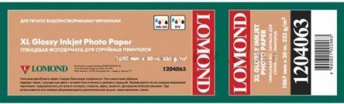 Фотобумага Lomond 1204063 XL Glossy Paper, ролик 235 г/м2 (1067мм x 30м x 50,8мм)