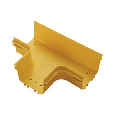 Ответвитель Lanmaster LAN-OT120-ET для оптического лотка 120 мм, желтый