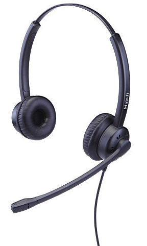 Гарнитура Mairdi MRD-609DS для телефонов, проводная, стерео, шумоподавление до 90%, HD аудио