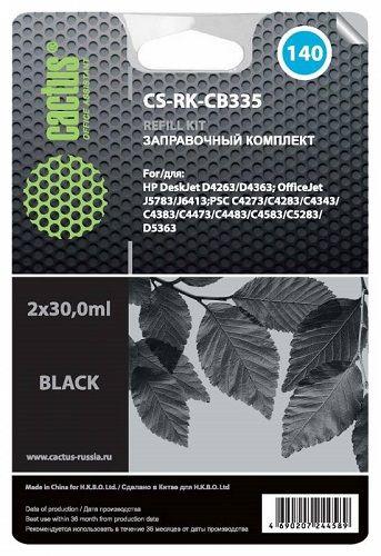Заправочный комплект Cactus CS-RK-CB335 черный (2x30мл) HP DeskJet D4263/D4363; OfficeJet J5783/J6413