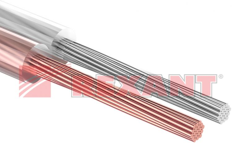 Rexant 2х0.75 мм², прозрачный SILICON, 100 м.