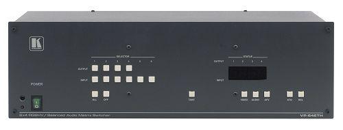 Коммутатор Kramer VP-64ETH 51-0145020 6:4 сигналов RGBHV и балансных стереофонических аудио сигналов