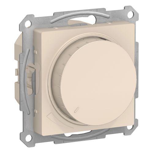 Светорегулятор Schneider Electric ATN000234 AtlasDesign, диммер, поворотно-нажимной, 315Вт, механизм, бежевый